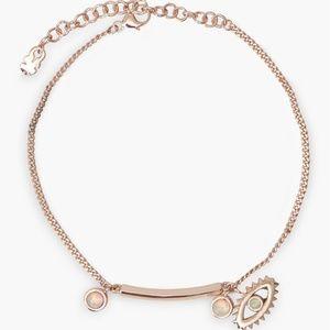 NWT Lucky Brand Sterling Silver Bar&Charm Bracelet